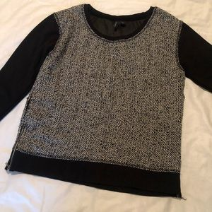 Wool panel sweater